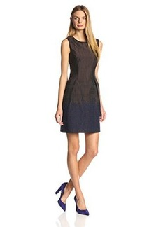 Elie Tahari Women's Holly Ombre Jacquard A-Line Dress