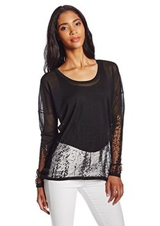 Elie Tahari Women's Isolde Ombre Burnout Sweater