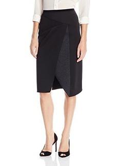 Elie Tahari Women's Jacie Skirt, Dark Grey Melange, 4