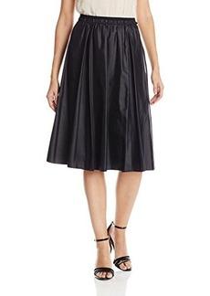 Elie Tahari Women's Jenna Nylon Flared Skirt, Black, Small