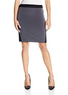 Elie Tahari Women's Jessa Luxe Crepe Color-Block Skirt
