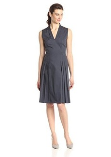 Elie Tahari Women's Jessy Cotton Poplin Pleated Dress