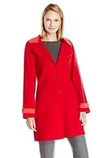 Elie Tahari Women's Lisa Coat, Poppy, X-Large