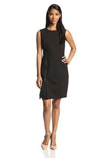 Elie Tahari Women's Livian Zip Detail Sheath Dress