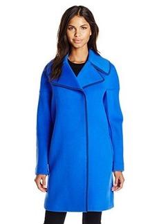 Elie Tahari Women's Louisa Coat, Oasis, Large