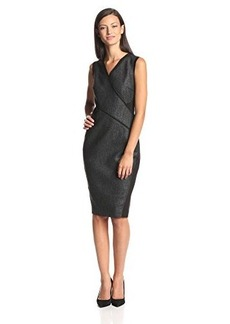 Elie Tahari Women's Maisy Coated Stretch Cotton Sheath Dress