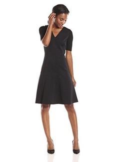 Elie Tahari Women's Maria Dress, Black/Poppy, 0