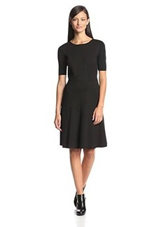 Elie Tahari Women's Maria Short-Sleeve A-Line Dress