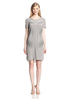 Elie Tahari Women's Maudette Embellished Short-Sleeve Dress