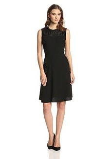 Elie Tahari Women's Ophelia Crepe Fit and Flare Dress