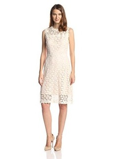 Elie Tahari Women's Ophelia Floral Lace Flared Dress