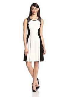 Elie Tahari Women's Patti Crepe Color-Block Dress