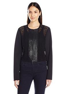 Elie Tahari Women's Pearson Jacket, Black, Medium