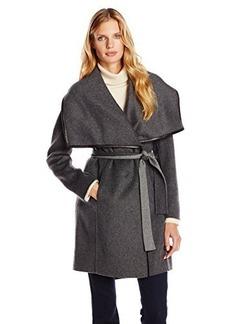 Elie Tahari Women's Portland Belted Double Faced Wool Coat