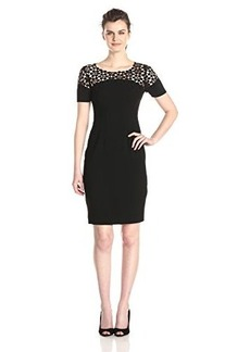 Elie Tahari Women's Suzie Lace Yoke Sheath Dress