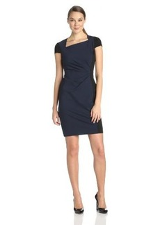 Elie Tahari Women's Toni Double-Knit Asymmetrical Dress