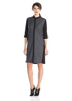 Elie Tahari Women's Valerie Dress, Carbon Melange, X-Large