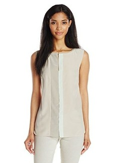 Elie Tahari Women's Vena Silk Colorblock Blouse