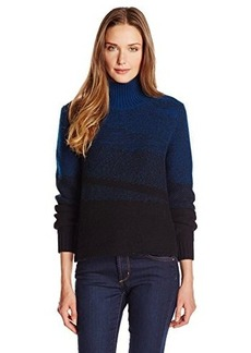 Elie Tahari Women's Warner Cashmere-Blend Marled Color-Block Sweater