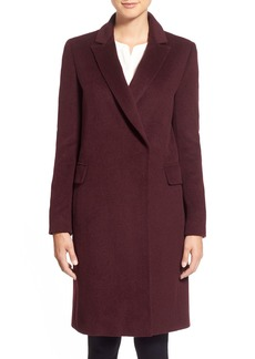 Elie Tahari Wool Blend Notch Collar Reefer