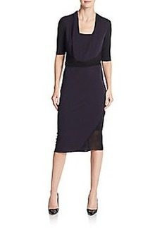 Elie Tahari Wrap-Around Jersey Dress
