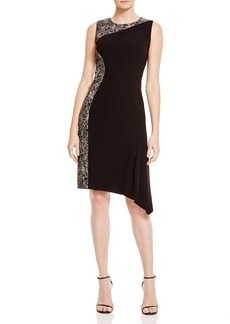 Elie Tahari Wynn Abstract Print Asymmetric Dress