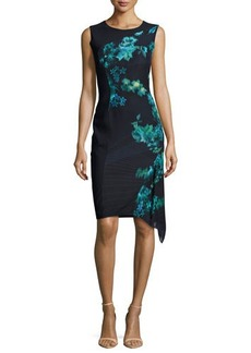 Elie Tahari Wynn Floral-Print Asymmetric Dress  Wynn Floral-Print Asymmetric Dress