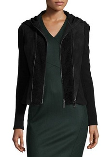 Elie Tahari Yasmine Fur-Trim Hooded Combo Jacket  Yasmine Fur-Trim Hooded Combo Jacket