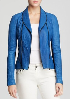 Elie Tahari Yasmine Washed Leather Jacket