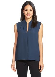 Elie Tahari'Judith' Asymmetrical Silk Blouse