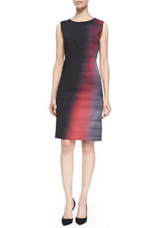 Emory Sleeveless Abstract Ombre Sheath Dress   Emory Sleeveless Abstract Ombre Sheath Dress