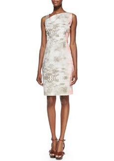 Emory Snake-Print Dress with Leather Shoulder Strap   Emory Snake-Print Dress with Leather Shoulder Strap