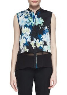 Eve Sleeveless Floral-Print Blouse   Eve Sleeveless Floral-Print Blouse