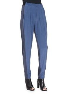 Gemma Colorblock Silk Track Pants   Gemma Colorblock Silk Track Pants