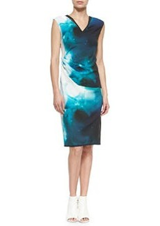 Ginger Starry Night Printed Sheath Dress   Ginger Starry Night Printed Sheath Dress