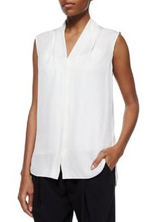 Ginny Sleeveless Blouse, White   Ginny Sleeveless Blouse, White