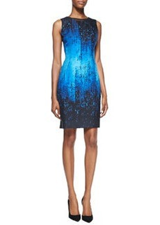 Holly Sleeveless Digital-Print Dress   Holly Sleeveless Digital-Print Dress