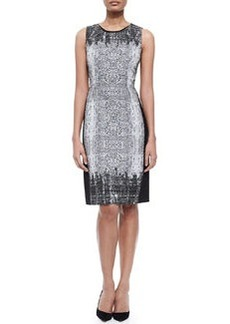 Holly Sleeveless Snake-Print Sheath Dress   Holly Sleeveless Snake-Print Sheath Dress