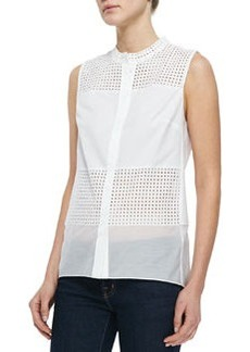 Isabel Sleeveless Perforated Blouse   Isabel Sleeveless Perforated Blouse