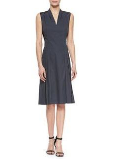 Jessy Pleated-Front Poplin Dress   Jessy Pleated-Front Poplin Dress