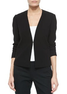 Kaya Mesh-Neck Wool Jacket   Kaya Mesh-Neck Wool Jacket