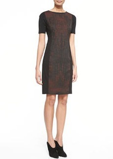 Kylie Short-Sleeve Dress with Printed Front   Kylie Short-Sleeve Dress with Printed Front
