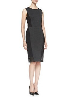 Laci Sleeveless Dress W/ Jersey Borders   Laci Sleeveless Dress W/ Jersey Borders