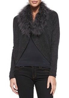Lana Faux-Fur Cashmere Cardigan Sweater   Lana Faux-Fur Cashmere Cardigan Sweater