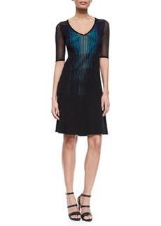Lara Plisse Sweaterdress, Black   Lara Plisse Sweaterdress, Black