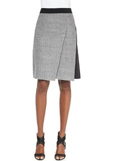 Larissa Diagonal-Pleat Combo Skirt   Larissa Diagonal-Pleat Combo Skirt