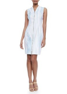 Leslie Sleeveless Zip-Front Dress   Leslie Sleeveless Zip-Front Dress