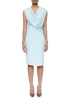 Linden Draped Jersey Sheath Dress   Linden Draped Jersey Sheath Dress