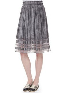 Luna Pleated Linen Skirt   Luna Pleated Linen Skirt