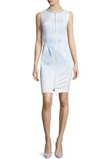 Elie Tahari Mila Sleeveless Zip-Front Sheath Dress